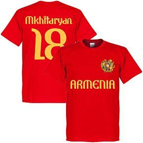 Armenia Mkhitaryan 18 Tee - Red