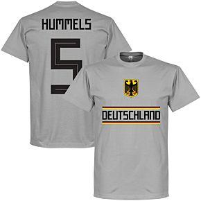 Germany Hummels 5 Team Tee - Grey