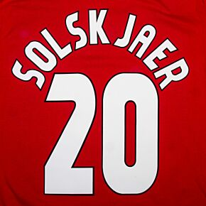 Solskjaer 20 - 98-99 Home C/L Style 1 Star Flock Name and Number Transfer