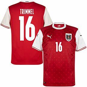 20-21 Austria Home Shirt + Trimmel 16 (Fan Style Printing)