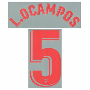 L.Ocampos 5 (Official Printing) - 21-22 Sevilla Home