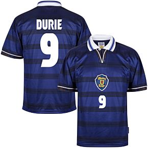 1998 Scotland Home World Cup Finals Retro shirt + Durie 9 (Retro Flock Printing)