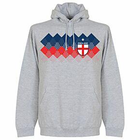 England 2018 Pattern KIDS Hoodie - Grey