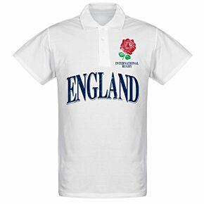 England Rose International Rugby Polo Shirt - White
