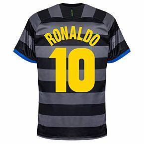 Ronaldo 10 (Retro Flock Printing) 20-21 Inter Milan 3rd