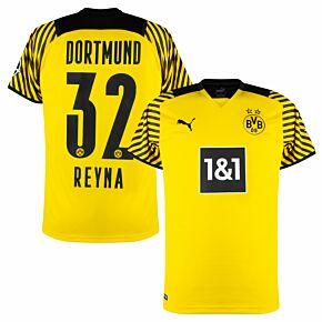 21-22 Borussia Dortmund Home Shirt + Reyna 32