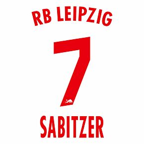 Sabitzer 7 (Official Printing) - 20-21 RB Leipzig Home