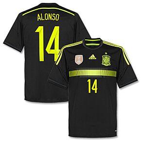 adidas Spain Away Shirt + Alonso 14 (Official) + Brazil 2014 MDT 2014-2015