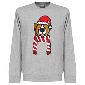 Dog Red / White Supporter Sweatshirt - Grey