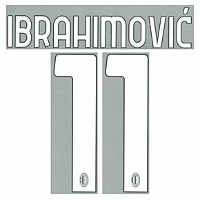 Ibrahimović 11 (Official Printing) - 21-22 AC Milan Home