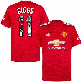20-21 Man Utd Home Shirt + Giggs 11 (Gallery Style)