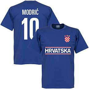 Croatia Modric 10 Team KIDS Tee - Royal