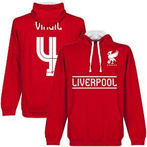 Liverpool Virgil Team Hoodie - Red/White