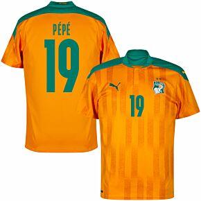 20-21 Ivory Coast Home Shirt + Pépé 19 (Fan Style)