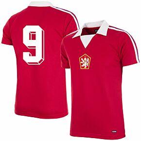 Copa Czechoslovakia Home Retro Shirt No.9 1976-1977 (Retro Flock Printing)