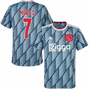 20-21 Ajax Away Shirt + Neres 7 (Fan Style Printing)