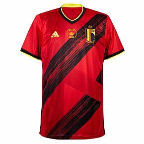 20-21 Belgium Home Shirt + v Italy Matchday Transfer
