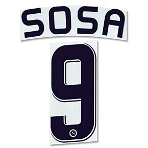 Sosa 9 - 07-08 Napoli Away Official Name and Number Transfer