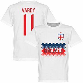 England Vardy 11 Team Tee - White