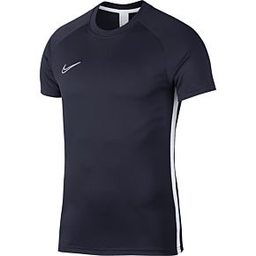 Nike Academy Dry Top S/S - Obsidian/White