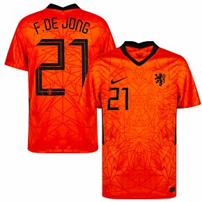 20-21 Holland Home Shirt + De Jong 21 (Official Printing)