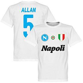 Napoli Allan 5 Team Tee - White