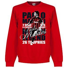 Paolo Maldini Legend Sweatshirt - Red