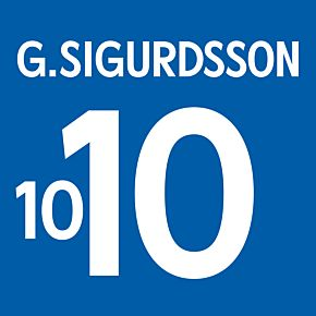 G. Sigurdsson 10 - Iceland Home Official Name & Number 2016 / 2017