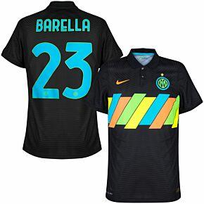 21-22 Inter Milan Dri-Fit ADV Match 3rd Shirt - No Sponsor + Barella 23 (Official Printing)