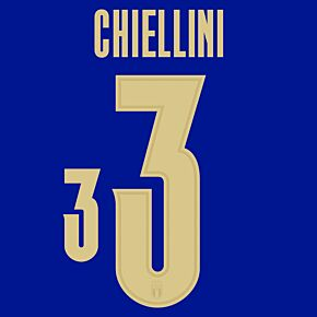 Chiellini 3 (Official Printing) - 20-21 Italy Home/3rd