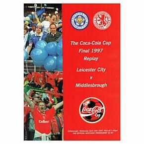 Leicester vs Middlesbrough - League Cup Final Replay Program, Hillsorough - 4/16/97