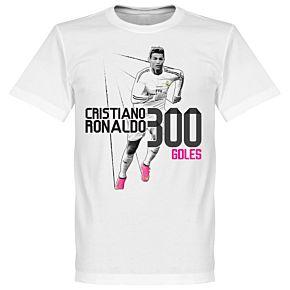 Ronaldo 300 Record Goaldscorer Tee - White