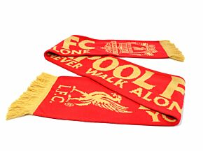 Liverpool YNWA Scarf - Red/Gold