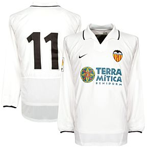 Nike CF Valencia 2002-2003 Home Jersey L/S - NEW - SANCHEZ 11 - MATCH ISSUE