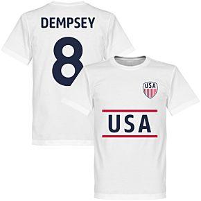 USA Dempsey 8 Team Tee - White