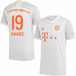 20-21 Bayern Munich Away Shirt + Davies 19 (Official Printing)