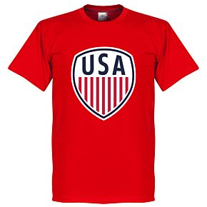 USA Crest Tee - Red