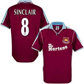 2000 West Ham Utd Home Retro Shirt + Sinclair 8 (Retro Flex Printing)