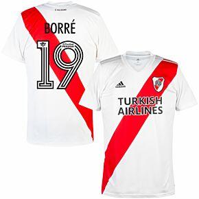 20-21 River Plate Home Shirt +  Borré 19 (Fan Style Printing)