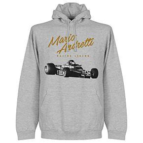 Mario Andretti Hoodie - Grey