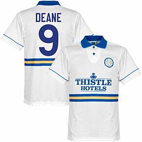 1994 Leeds Utd Home Retro Shirt + Deane 9 (Retro Flock Printing)