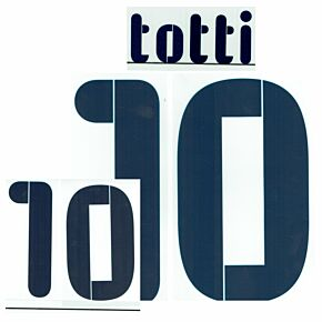 Totti 10 - 07-09 Italy Away Kids Name & Number