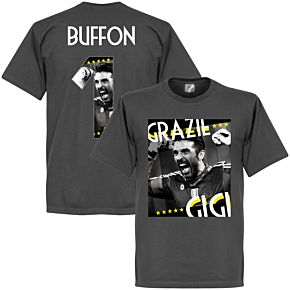 Grazie Gigi Buffon 1 Tee - Dark Grey