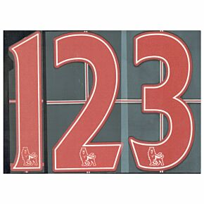 07-13 Premier League Players Lextra Numbers - Red 258mm