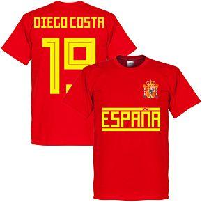 Spain Diego Costa 19 Team Tee - Red