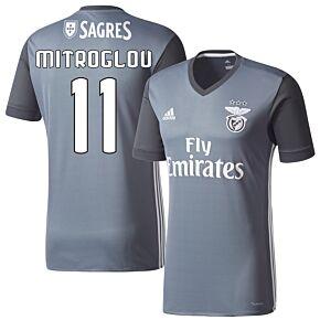 adidas Benfica Away Mitroglou 11 Jersey 2016-2017 (Fan Style Printing)