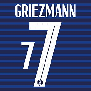 Griezmann 7 (Official Printing) - 20-21 France Home