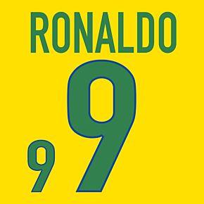Ronaldo 9 - 1998 Brazil Home (Fan Style Print)