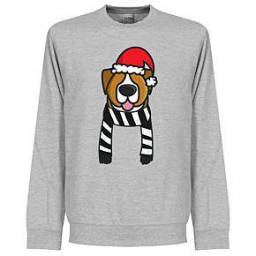 Christmas Dog Supporter KIDS Sweatshirt - (GreyWhite/Black)