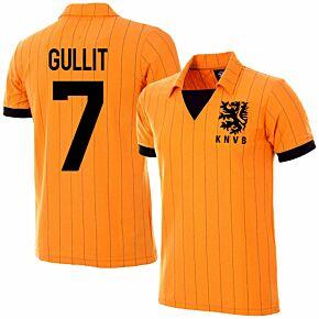 1983 Holland Home Retro Jersey + Gullit 7 (Retro Flock Printing)